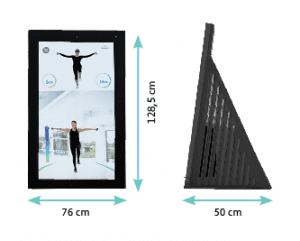 Die Pixformance Station 2.0 ist 76 cm breit, 50 cm tief und 128,5 cm hoch.