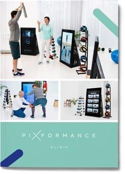 Pixformance Frontseite der Broschüre für Kliniken